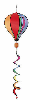 HQ Windspiel Hot Air Balloon Twist Rainbow Garten Dekoration