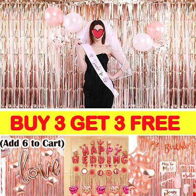 2M-3M Foil Fringe Tinsel Shimmer Curtain Door Wedding Birthday Party Baby^Shower