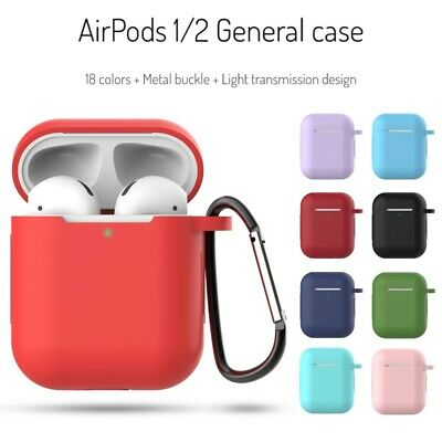 For Apple AirPods 1/2 Case Silicone Protect Cover Skin Earphone Charger Cases
