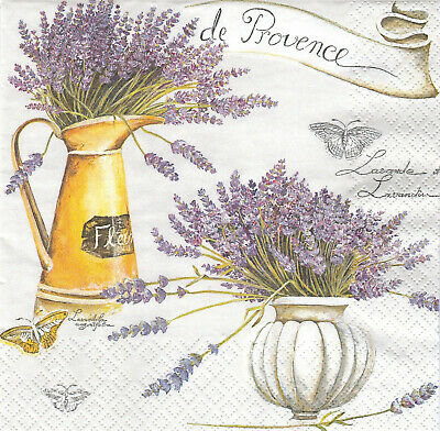 Lot de 2 Serviettes en papier Lavande Provence Decoupage Collage Decopatch