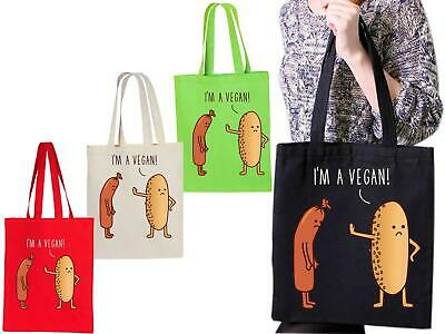Vegetarian mode activated tote bag animal rights natural healthy diet joke 3744