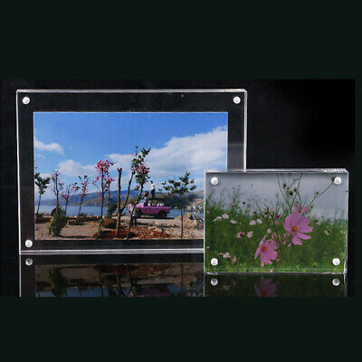 Freestanding Polished Office Clear Acrylic Magnetic Picture Photo Frame Tools