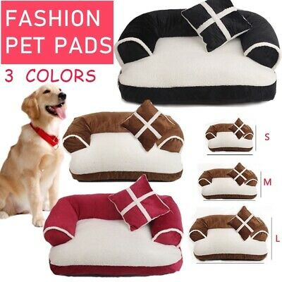 Cute Soft Pet Dog Cat Mats House Warm Cozy Removable Cotton Pet Beds Pad S/M/L