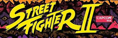 Street fighter 2  Arcade Cabinet Graphics Reproduction Marquee Side Art