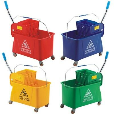 20 Litre Kentucky Mop Bucket & Gear Press ONLY GREEN & YELLOW LEFT