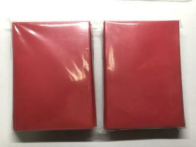 Lenayuyu 120pcs DECK PROTECTOR Card Sleeves 62mm*89mm red and Glossy