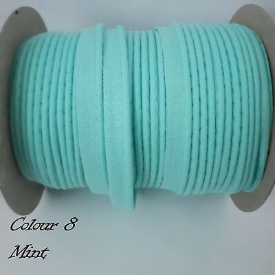 """78/"""" 10mm Crysta Cotton Bias Binding Tape Cord Flanged Rope Piping 2 Meters"""
