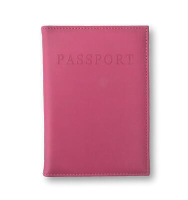 Hot Pink Pu Leather Passport Cover Travel Personalised Gold Initials Monogram