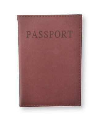Hot Brown Pu Leather Passport Cover Travel Personalised Gold Initials Monogram