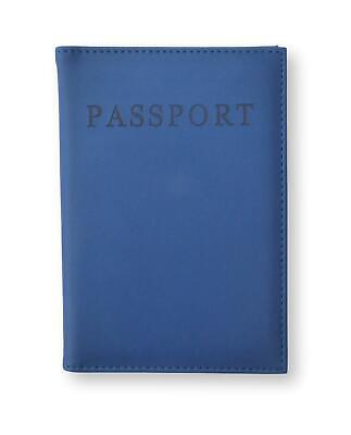 Navy Blue Pu Leather Passport Cover Travel Personalised Gold Initials Monogram