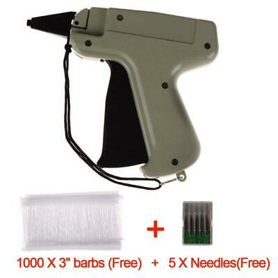 "Clothes Garment Price Label Tagging Tag Gun 3""1000 Barbs + 5 Needles Tool Kit"
