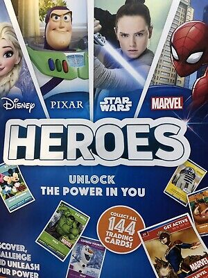 Sainsburys Heroes Complete Trading Cards Set With Book (144 Cards)