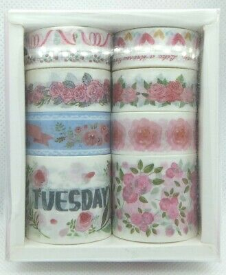 Washi Tape 10 Rolls Floral Ideal For Crafts, Scrapbooking And Bullet Journals
