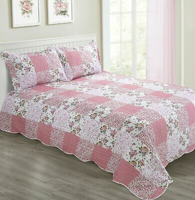 SALE! £35 any size 2 sets x Roseanna Quilted Bedspread /& Pillowsham /& Curtain