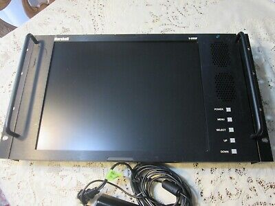 """Marshall V-R151P 15"""" Rack Mount TV Video Broadcast Color Monitor w/ Power Supply"""