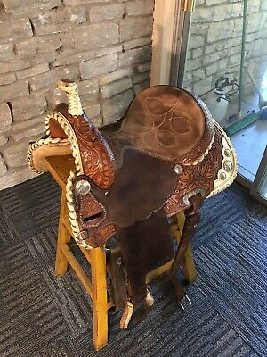 DOUBLE J SADDLERY Pozzi Pro Barrel Saddle - 14 Inch Seat