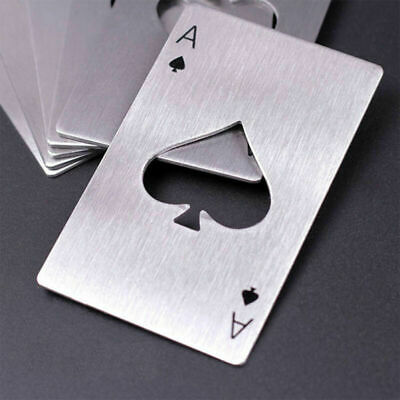 2pcs Metal Outdoor Poker Playing Cards Throwing Toy Creative Bottle Opener Open