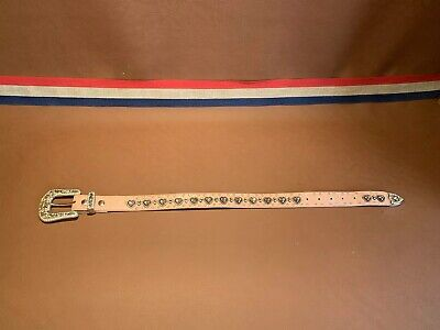Nooona Belt Co Girls Pink Studded Belt N4426824-20 Length 28.5 Inches Bejeweled