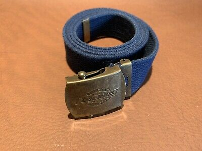 Dickies Mens Cotton Canvas Belt Blue Length 46 Inches