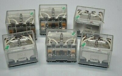Lot of 6 Omron LY4N-D2 Cube Relays 14 Pin 24VDC