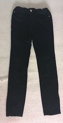 Zara Girls Black Needlecord Slim Fit Trousers Age 11-12 Years ⭐️GC⭐️