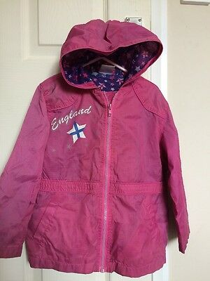 Girls Pink Light Weight Cagoule Coat Jacket Aged 4-5 Years