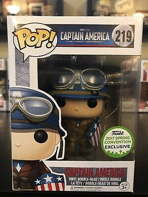 Funko Pop Marvel Captain America First Avenger 2017 Spring Convention Exclusive
