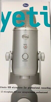 Blue Microphones Yeti USB Microphone - Silver - NEW