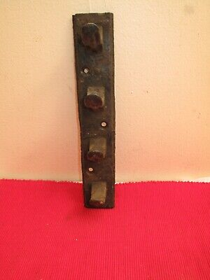 Antique Cast Iron Vertical Coat Rack Four 4 Coat Hooks Unusual Industrial Rustic