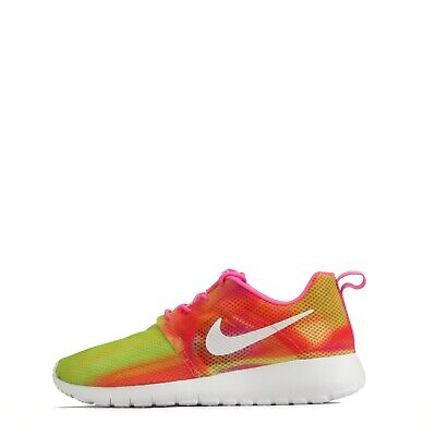 Nike Roshe Run Flight Weight Junior Youth Kids Casual Trainers Shoes Pink UK 4