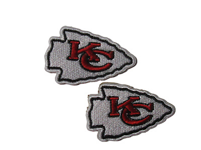 NFL Kansas City Chiefs  Embroidered Patch Applique Badge Set of 2