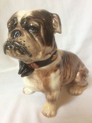 Vintage Napco John Bull Dog Ceramic Pottery Still BANK w/out Lock S1505 D10