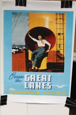 1940's Cruise The Great Lakes - Canadian Pacific Travel Poster