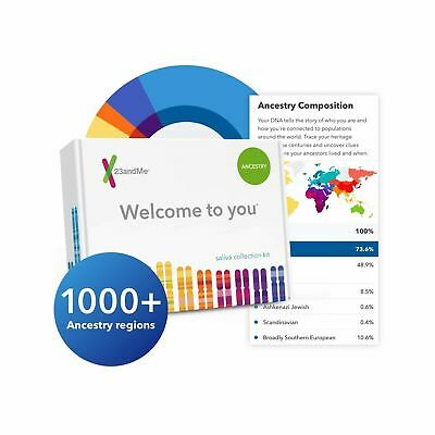 23andMe DNA Test - Ancestry Personal Genetic Service - includes 1,000  Geogra...