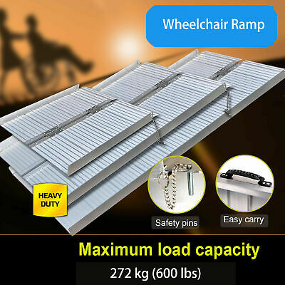 3-6Ft Aluminium Folding Loading Access Ramp Portable Wheelchair Mobility Scooter