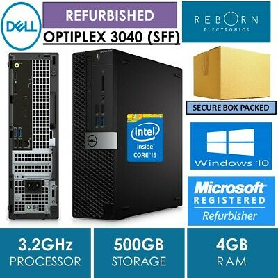 'REFURBISHED'-(SFF) DELL OPTIPLEX 3040, i5-6500, 4GB, 500GB, WIN 10 PRO