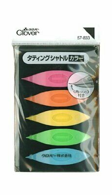 Clover Tatting shuttle color 5 color set Clover Lace making Made in Japan #ic9