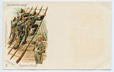 1900 Litho Tucks Postcard The British Navy Topmen Aloft Signed Harry Payne E96