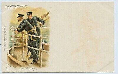 "1900 Litho Tucks Postcard ""The British Navy Far Away"" Signed By Harry Payne E97"