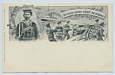 "1900 Postcard Boer War No3 ""Britons Shall Never Be Slaves"" Stewart Edinburgh E99"