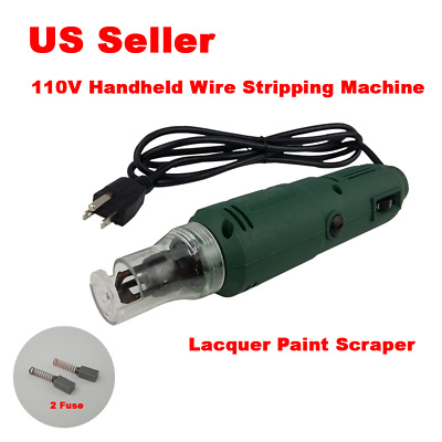110V Handheld Wire Stripping Machine Electric Wiper Lacquer Paint Scraper