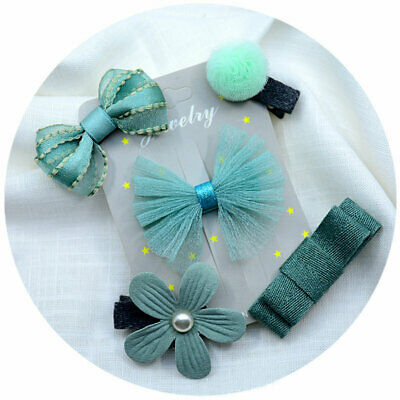 5PCS/Set Baby Girls Hair Clips Alligator Bow Flower Star Hairpins Barrettes Gift