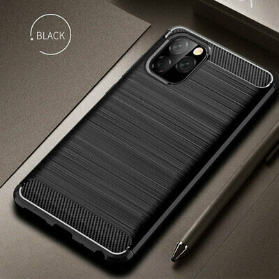 For iPhone 11 Pro Max 2019 X XR XS MAX Shockproof Fiber Carbon Soft Cover Case