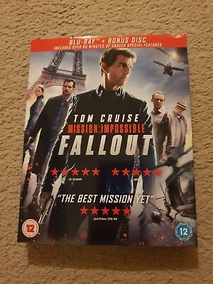 Mission Impossible - Fallout (Blu Ray + Bonus Disc) - Brand New Still Sealed