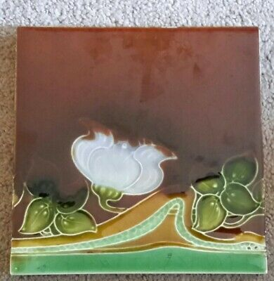 Origanal  English Art Nouveau Tile. Henry Richards c1903
