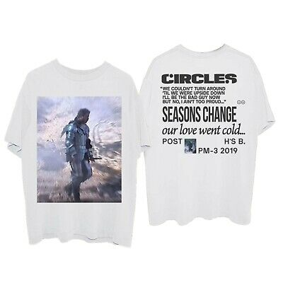 Post Malone 'Circles' standing Hollywood's Bleeding album 2019 - T-shirt