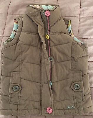 **Girls Joules Taupe Gilet Bodywarmer Jacket Age 4 years**