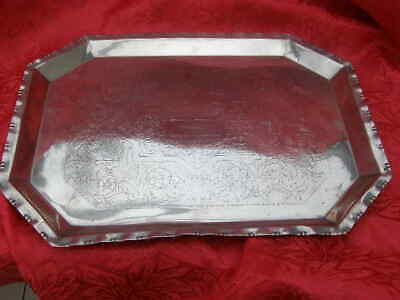 Heavy Antique Silver Plate EPNS  Serving Tray Aesthetic Design