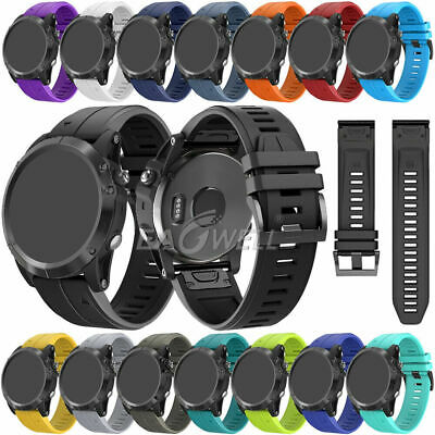 For Garmin Fenix 6 / 6S Pro 6X Pro Solar Soft Silicone Quick Release Watch Band