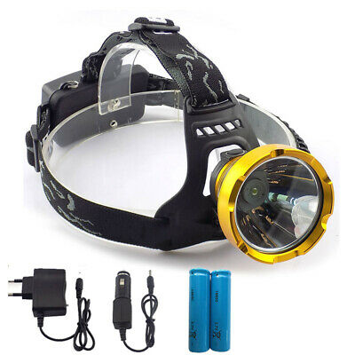 Rechargeable Led Headlight 18650 Head torch Lamp Hiking Camping headlamp 8W